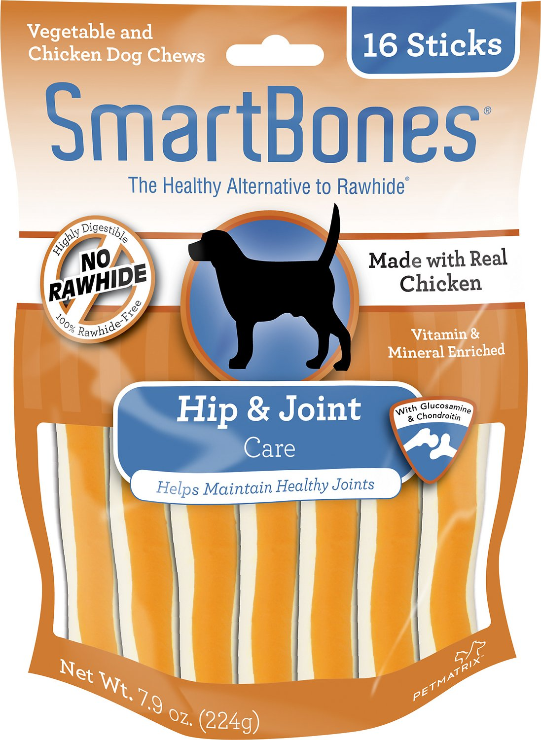 SmartBones Hip & Joint Care Chicken Chews Dog Treats, 16 pack