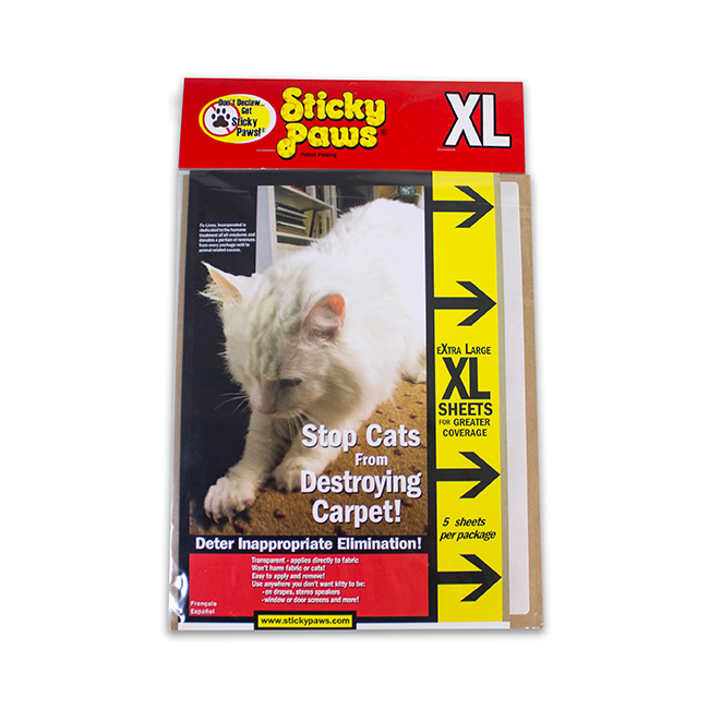 SmartCat Sticky Paws XL Sheets, 5 count