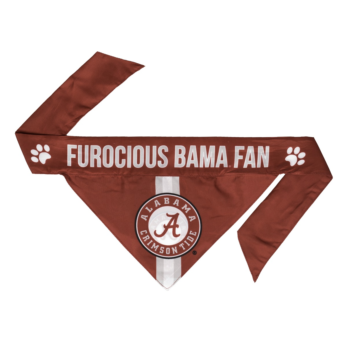 Little Earth Tie-On Dog Bandana, NCAA Alabama Crimson Tide, Small
