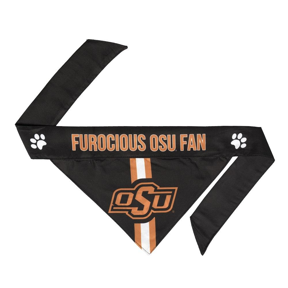 Little Earth Tie-On Dog Bandana, NCAA Oklahoma State, Small