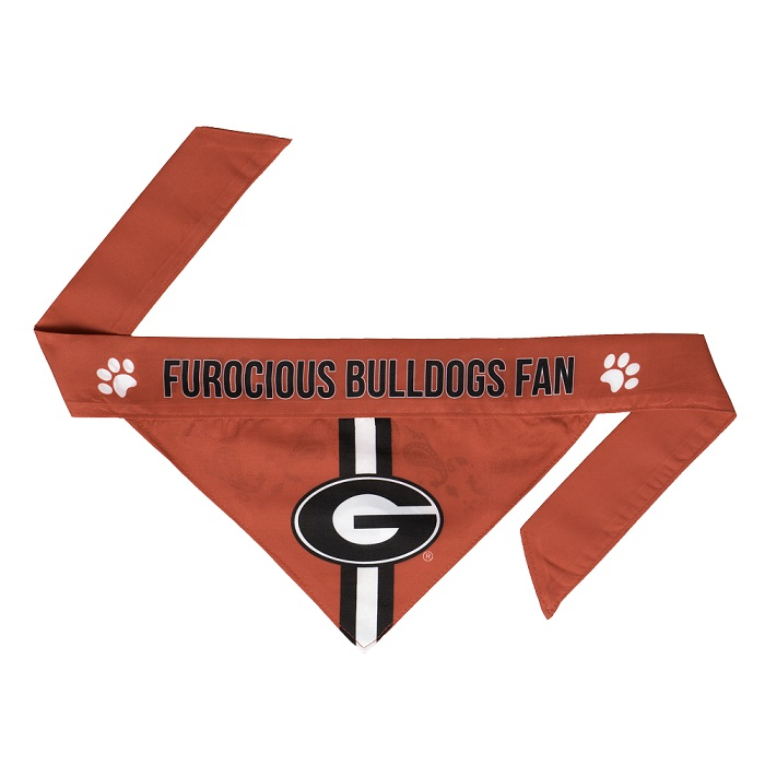 Little Earth Tie-On Dog Bandana, NCAA Georgia Bulldogs, Small