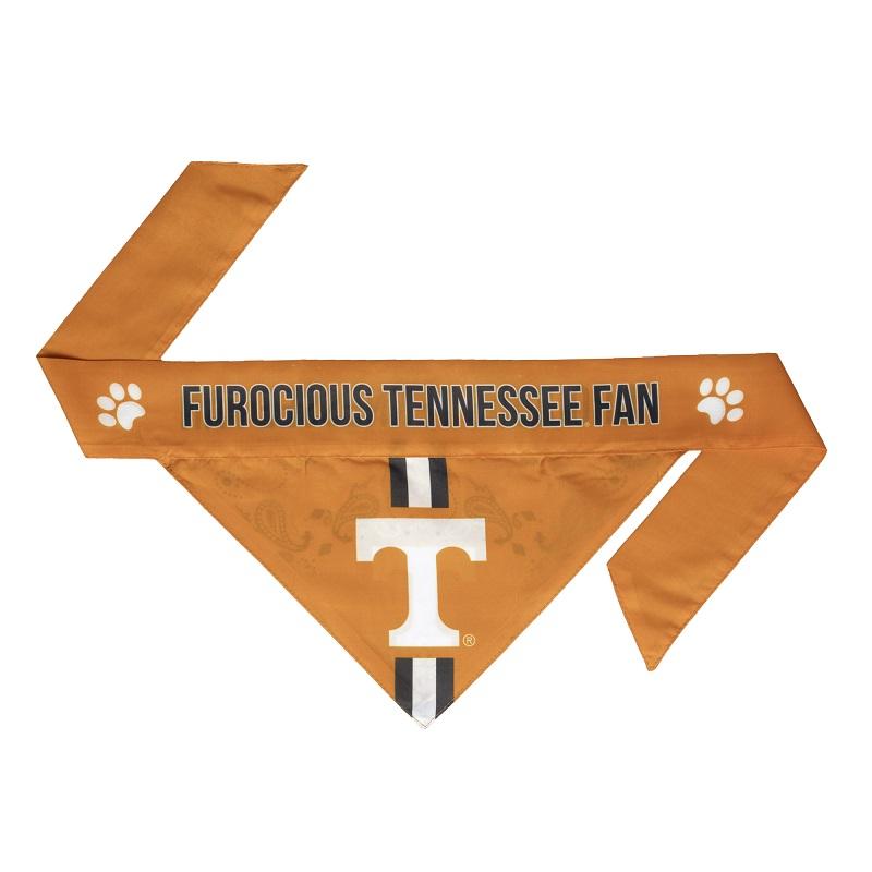 Little Earth Tie-On Dog Bandana, NCAA Tennessee Volunteers, Small
