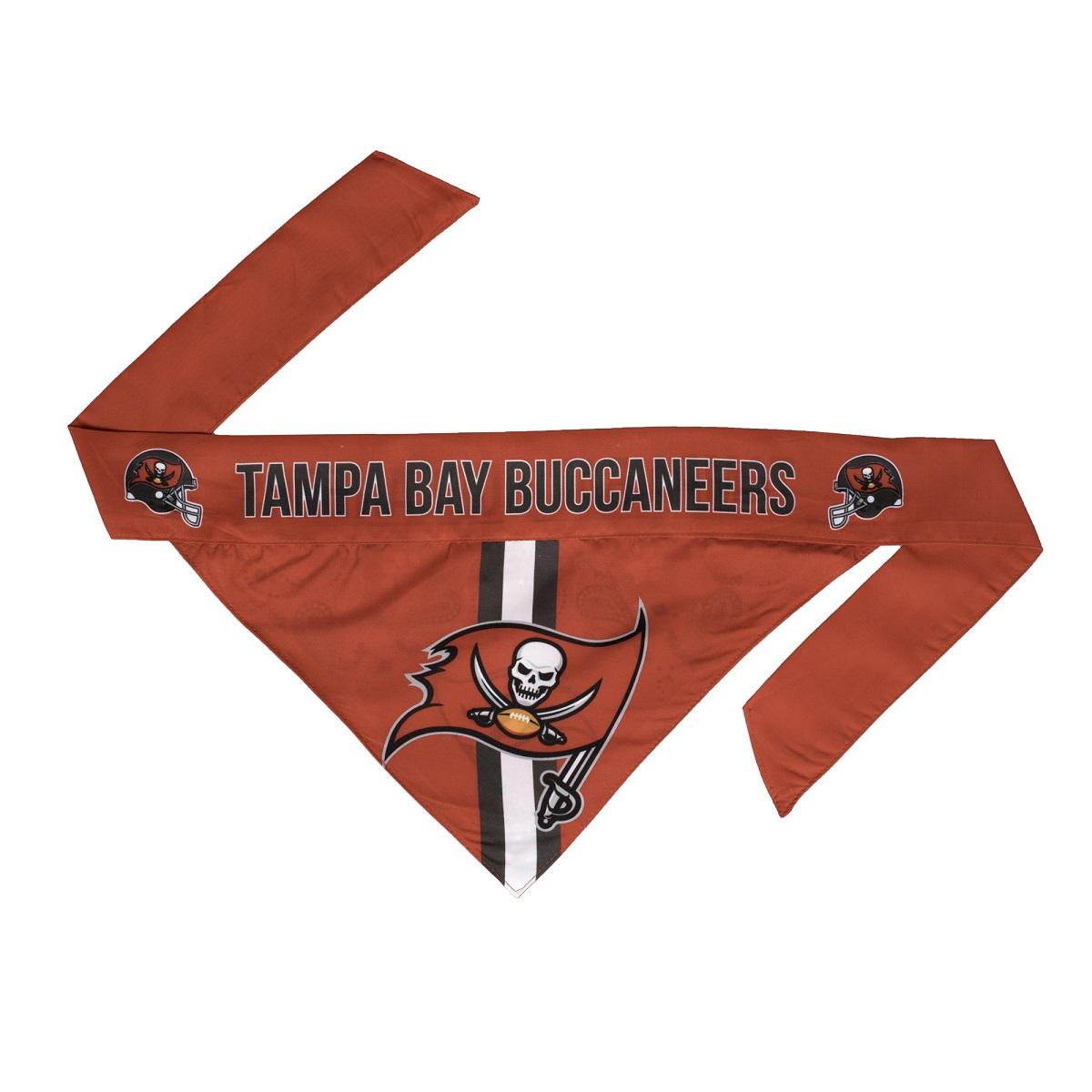 Little Earth Tie-On Dog Bandana, NFL Tampa Bay Buccaneers, Small