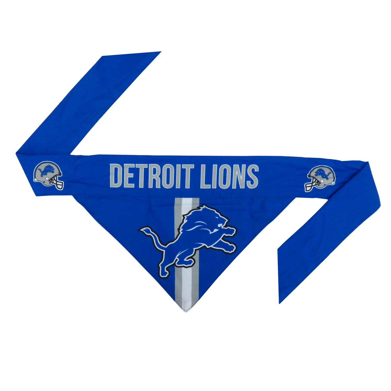 Little Earth Tie-On Dog Bandana, NFL Detroit Lions, Small