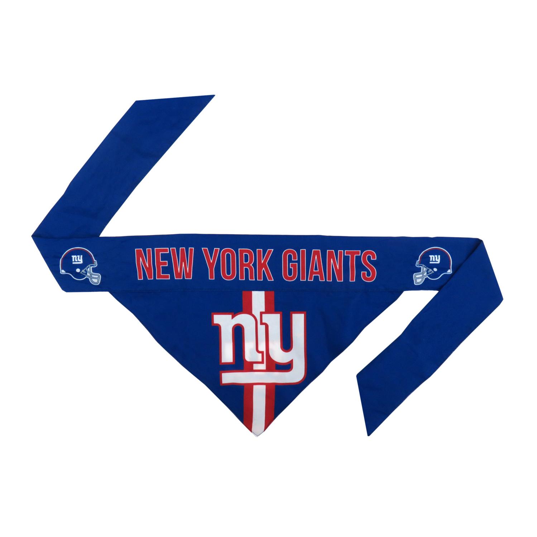 Little Earth Tie-On Dog Bandana, NFL New York Giants, Small