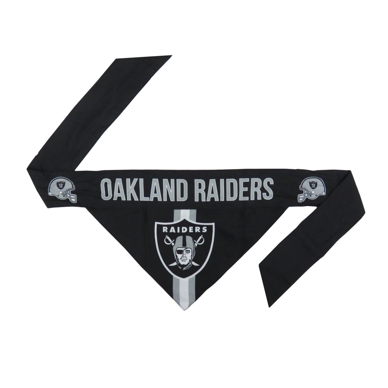 Little Earth Tie-On Dog Bandana, NFL Oakland Raiders, Small