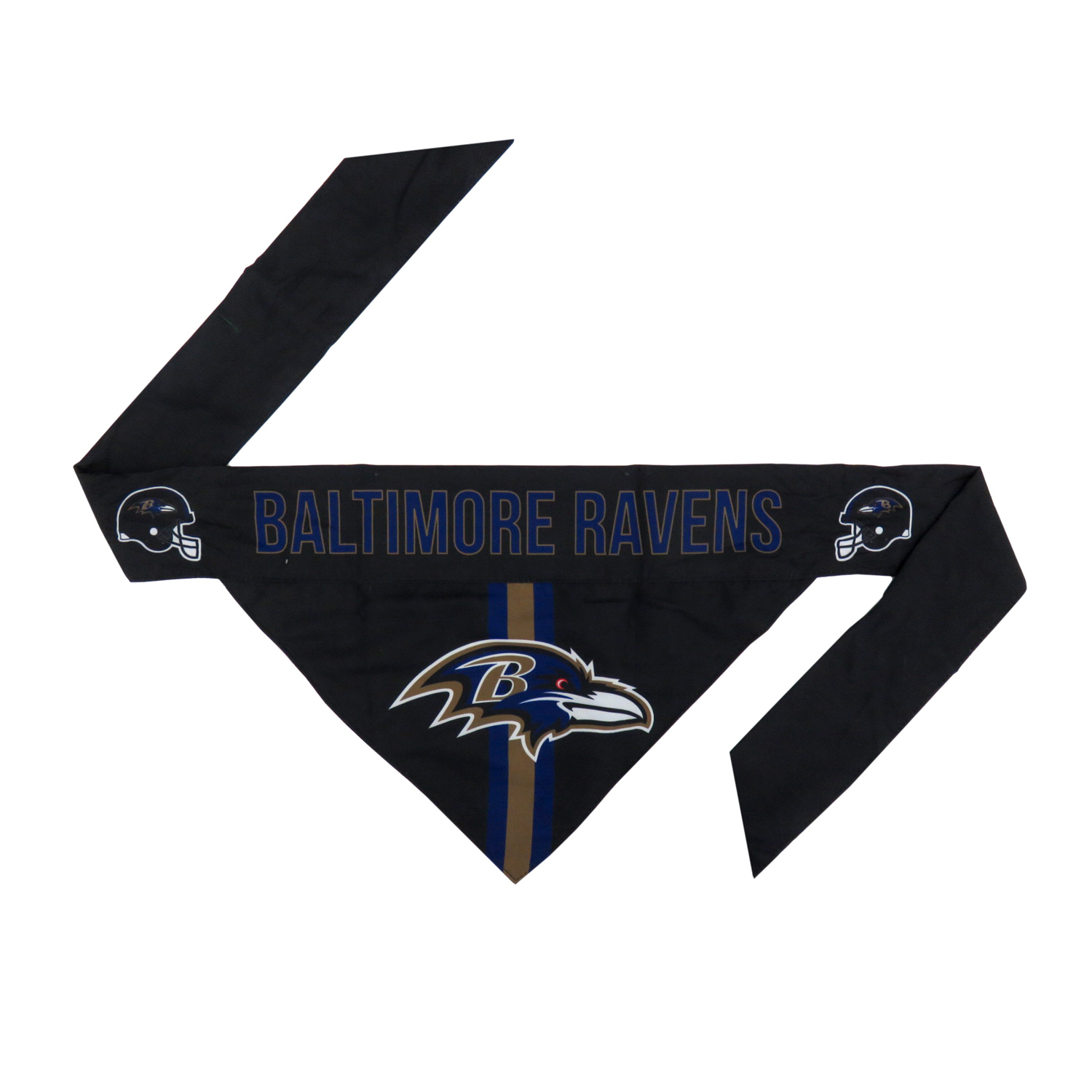 Little Earth Tie-On Dog Bandana, NFL Baltimore Ravens, Small