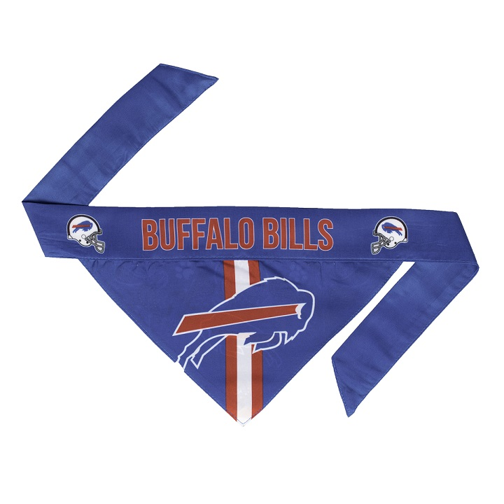 Little Earth Tie-On Dog Bandana, NFL Buffalo Bills, Small