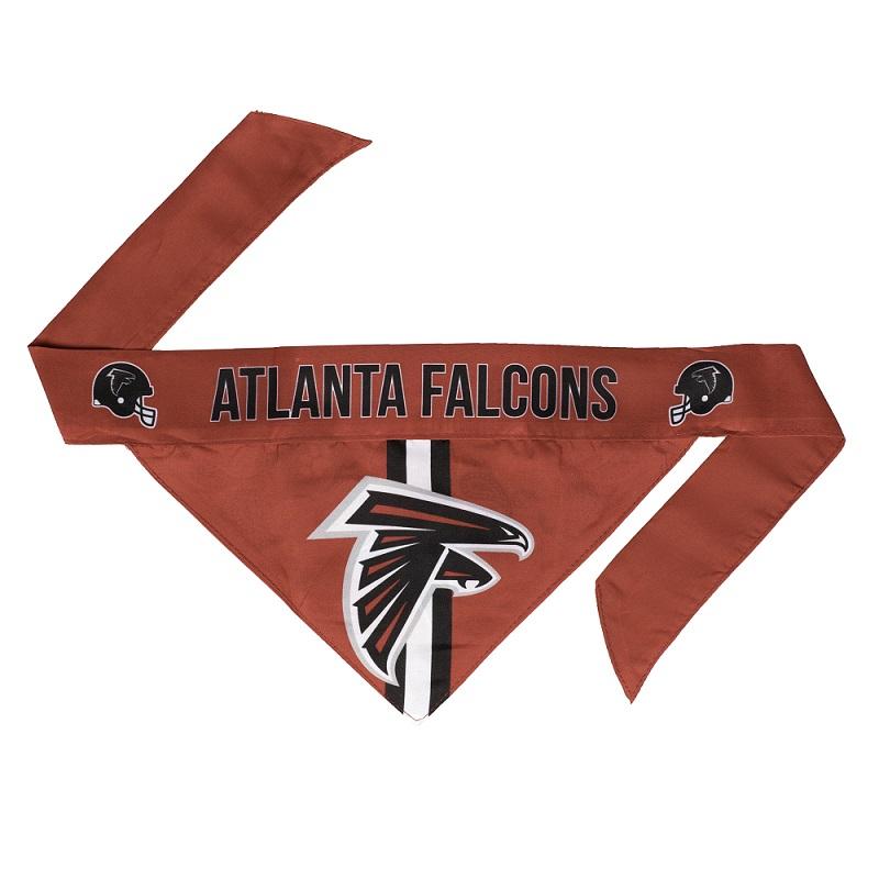 Little Earth Tie-On Dog Bandana, NFL Atlanta Falcons, Large