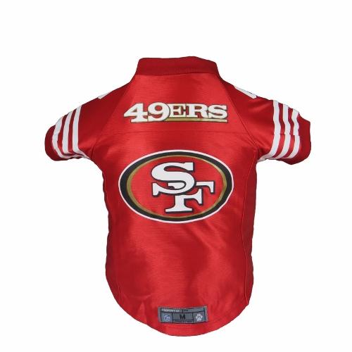 Little Earth Premium Dog Jersey, NFL San Francisco 49ers, Large