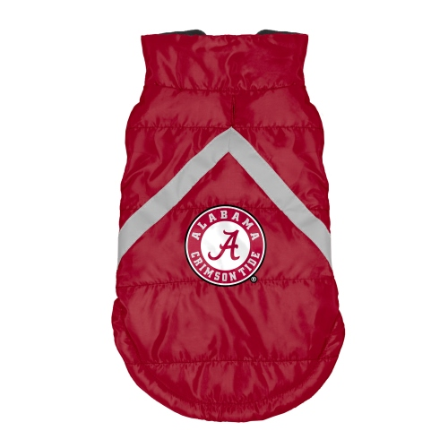 Little Earth Dog Puffer Vest, NCAA Alabama Crimson Tide, Medium