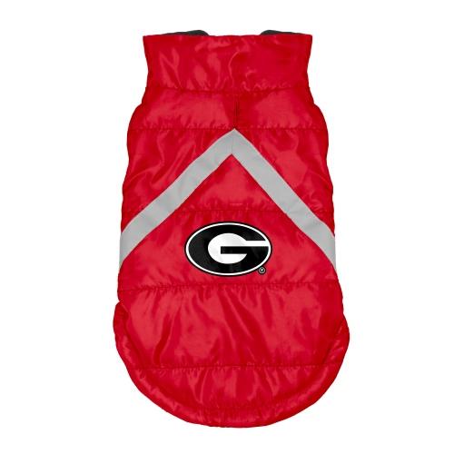 Little Earth Dog Puffer Vest, NCAA Georgia Bulldogs, Medium