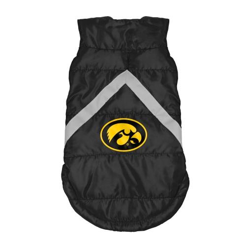 Little Earth Dog Puffer Vest, NCAA Iowa Hawkeyes, X-Large