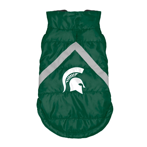 Little Earth Dog Puffer Vest, NCAA Michigan State Spartans, Medium