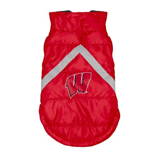 Little Earth Dog Puffer Vest, NCAA Wisconsin Badgers, Medium