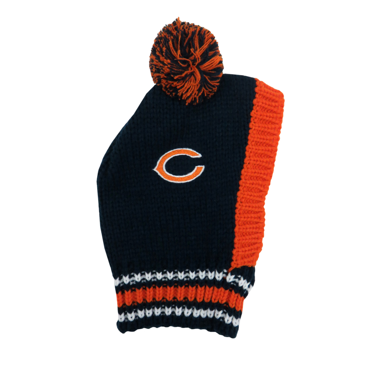 Little Earth Knit Dog Hat, NFL Chicago Bears, Small