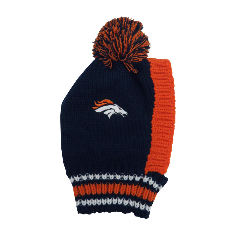 Little Earth Knit Dog Hat, NFL Denver Broncos, Medium