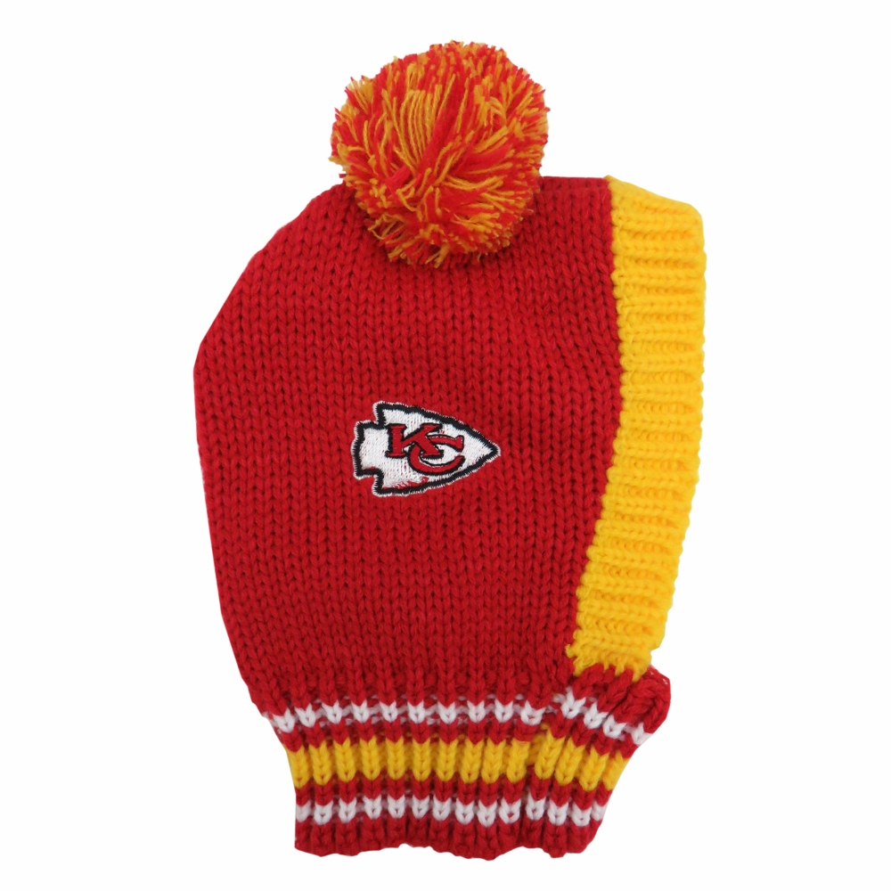 Little Earth Knit Dog Hat, NFL Kansas City Chiefs, Large