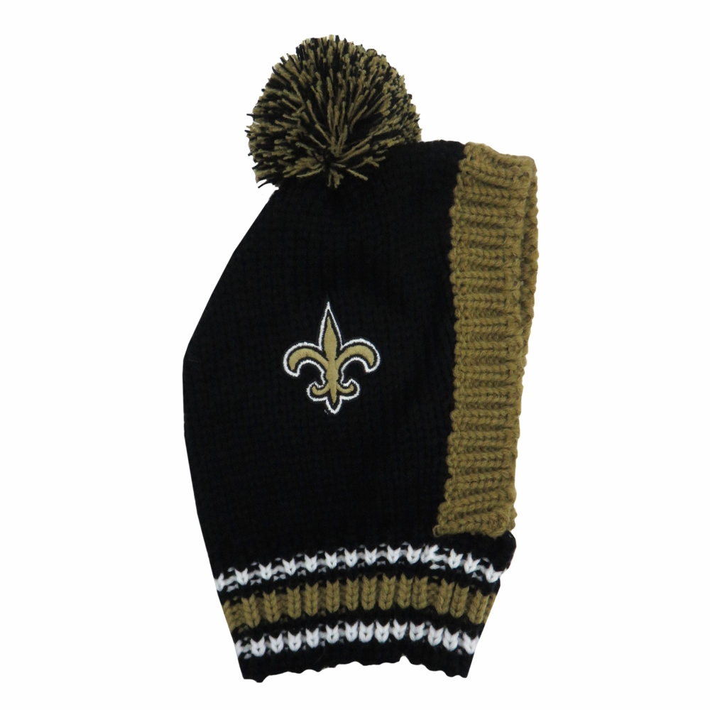 Little Earth Knit Dog Hat, NFL New Orleans Saints, Medium