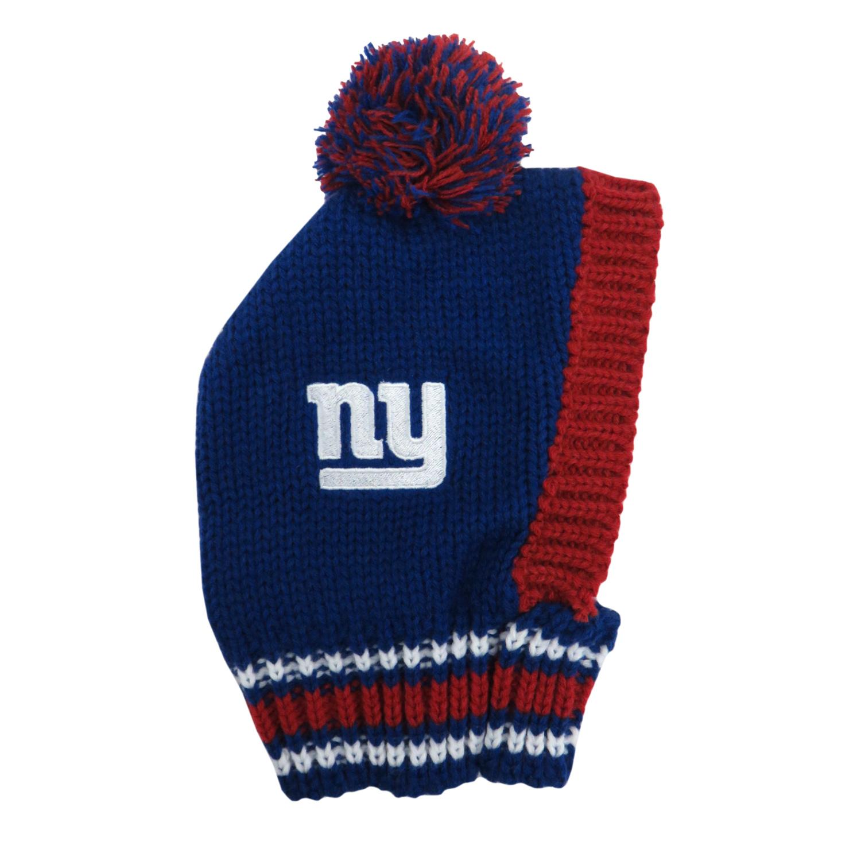 Little Earth Knit Dog Hat, NFL New York Giants, Medium