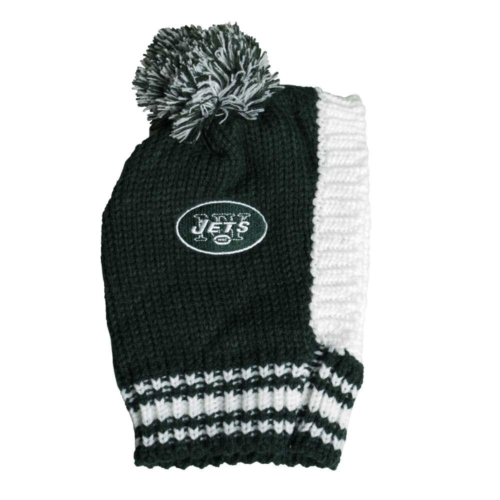 Little Earth Knit Dog Hat, NFL New York Jets, Large