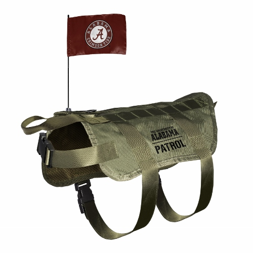 Little Earth Tactical Dog Vest, NCAA Alabama Crimson Tide, Medium/Large