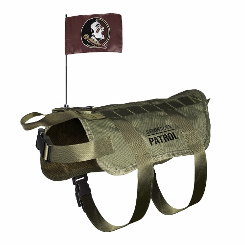 Little Earth Tactical Dog Vest, NCAA Florida State Seminoles, Medium/Large
