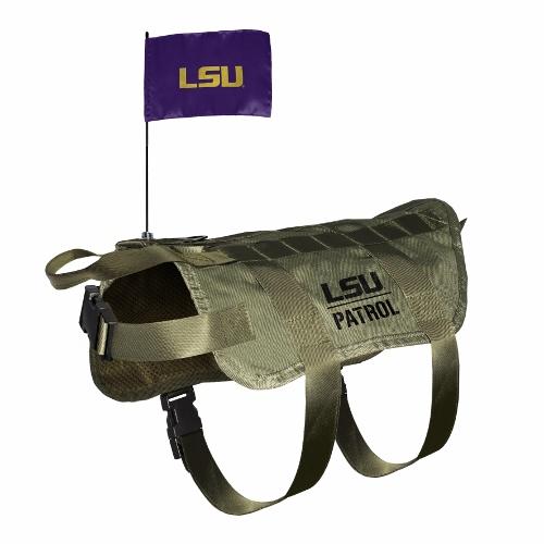 Little Earth Tactical Dog Vest, NCAA LSU Tigers, X-Large/Big Dog