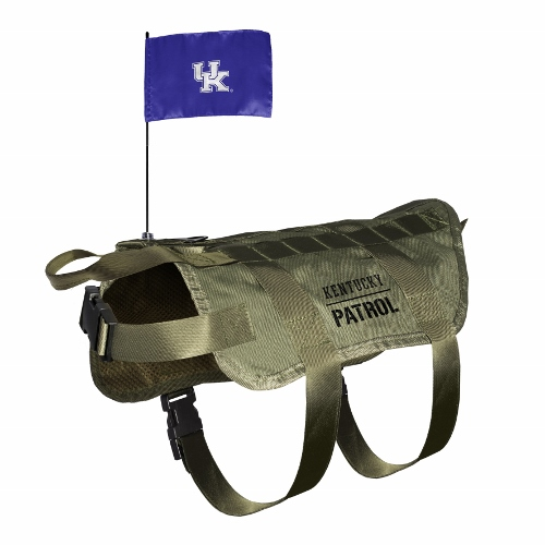 Little Earth Tactical Dog Vest, NCAA Kentucky Wildcats, X-Large/Big Dog