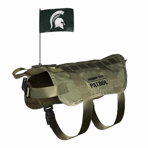 Little Earth Tactical Dog Vest, NCAA Michigan State Spartans, Medium/Large