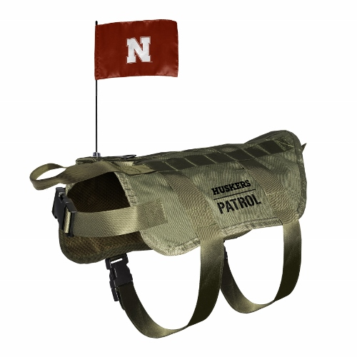 Little Earth Tactical Dog Vest, NCAA Nebraska Huskers, X-Large/Big Dog