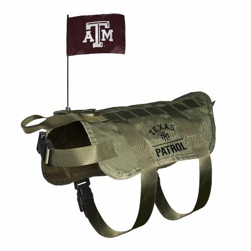 Little Earth Tactical Dog Vest, NCAA Texas A&M, X-Large/Big Dog