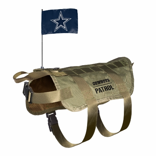 Little Earth Tactical Dog Vest, NFL Dallas Cowboys, Medium/Large