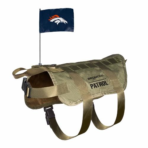Little Earth Tactical Dog Vest, NFL Denver Broncos, X-Large/Big Dog