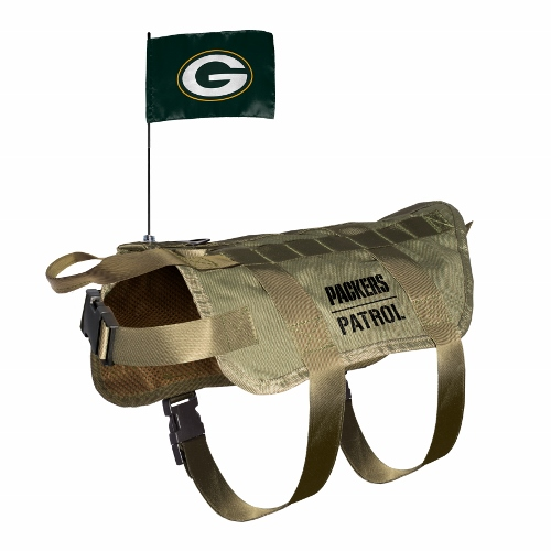 Little Earth Tactical Dog Vest, NFL Green Bay Packers, Medium/Large