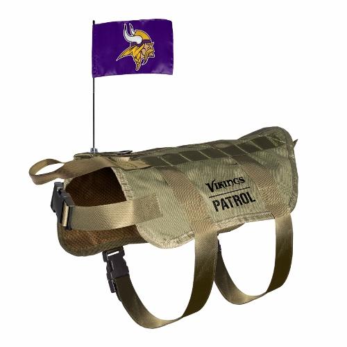 Little Earth Tactical Dog Vest, NFL Minnesota Vikings, Medium/Large