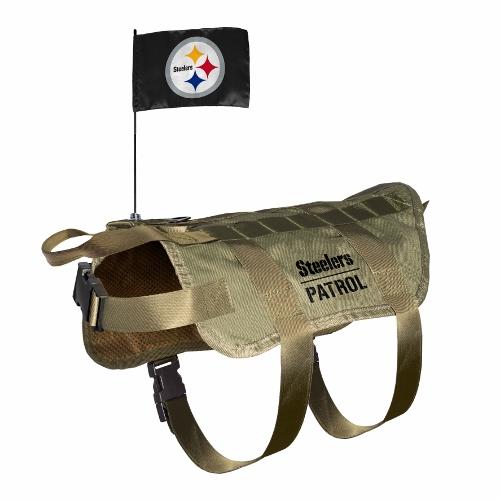 Little Earth Tactical Dog Vest, NFL Pittsburgh Steelers, X-Large/Big Dog