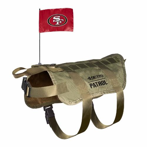 Little Earth Tactical Dog Vest, NFL San Francisco 49ers, X-Large/Big Dog