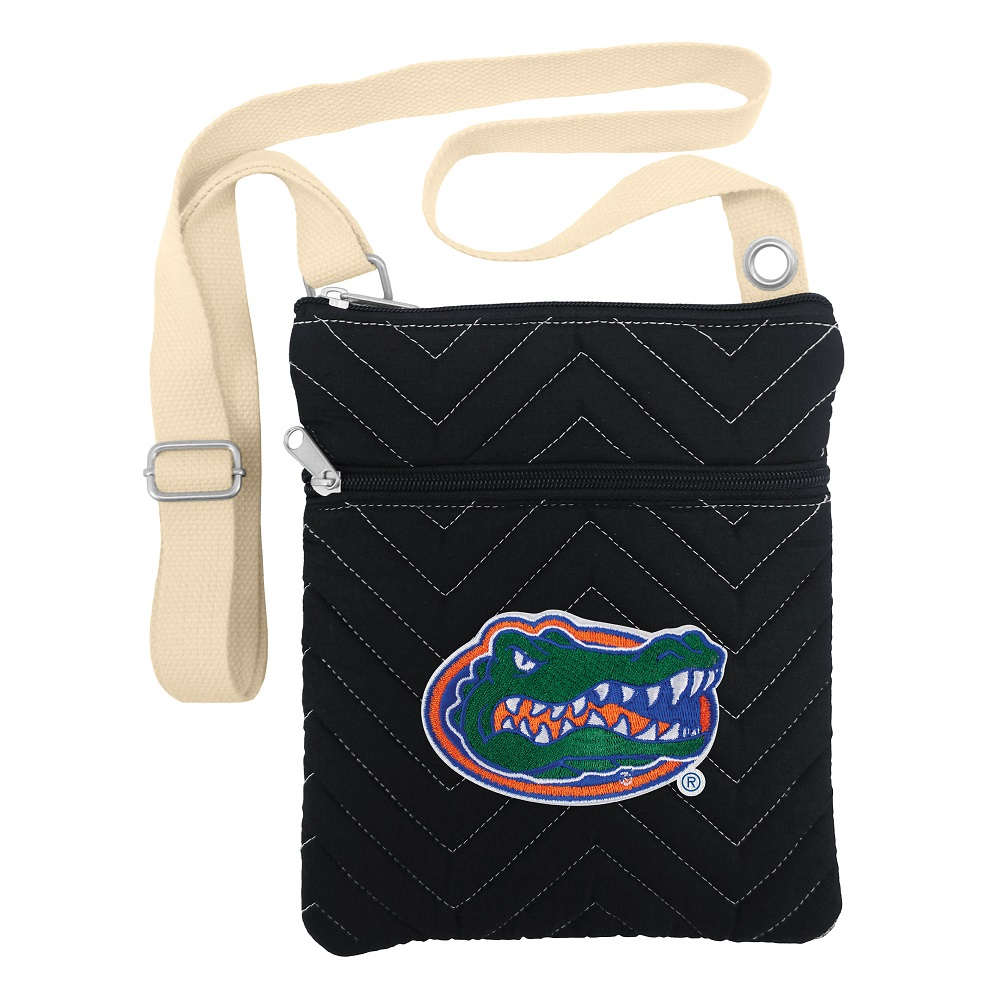 Little Earth Chevron Stitch Cross Body Purse, NCAA Florida Gators