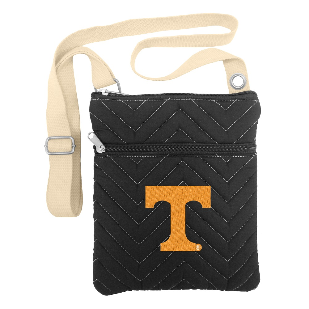 Little Earth Chevron Stitch Cross Body Purse, NCAA Tennessee Volunteers
