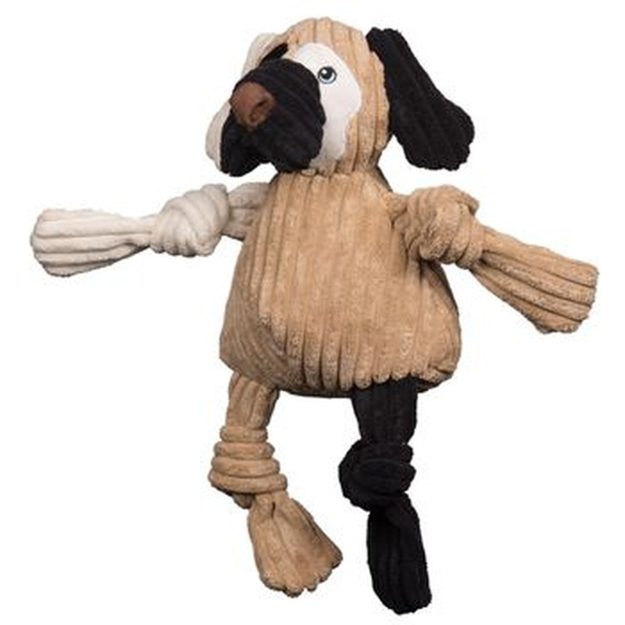 HuggleHounds Knottie HuggleMutt Patches Dog Toy, Large
