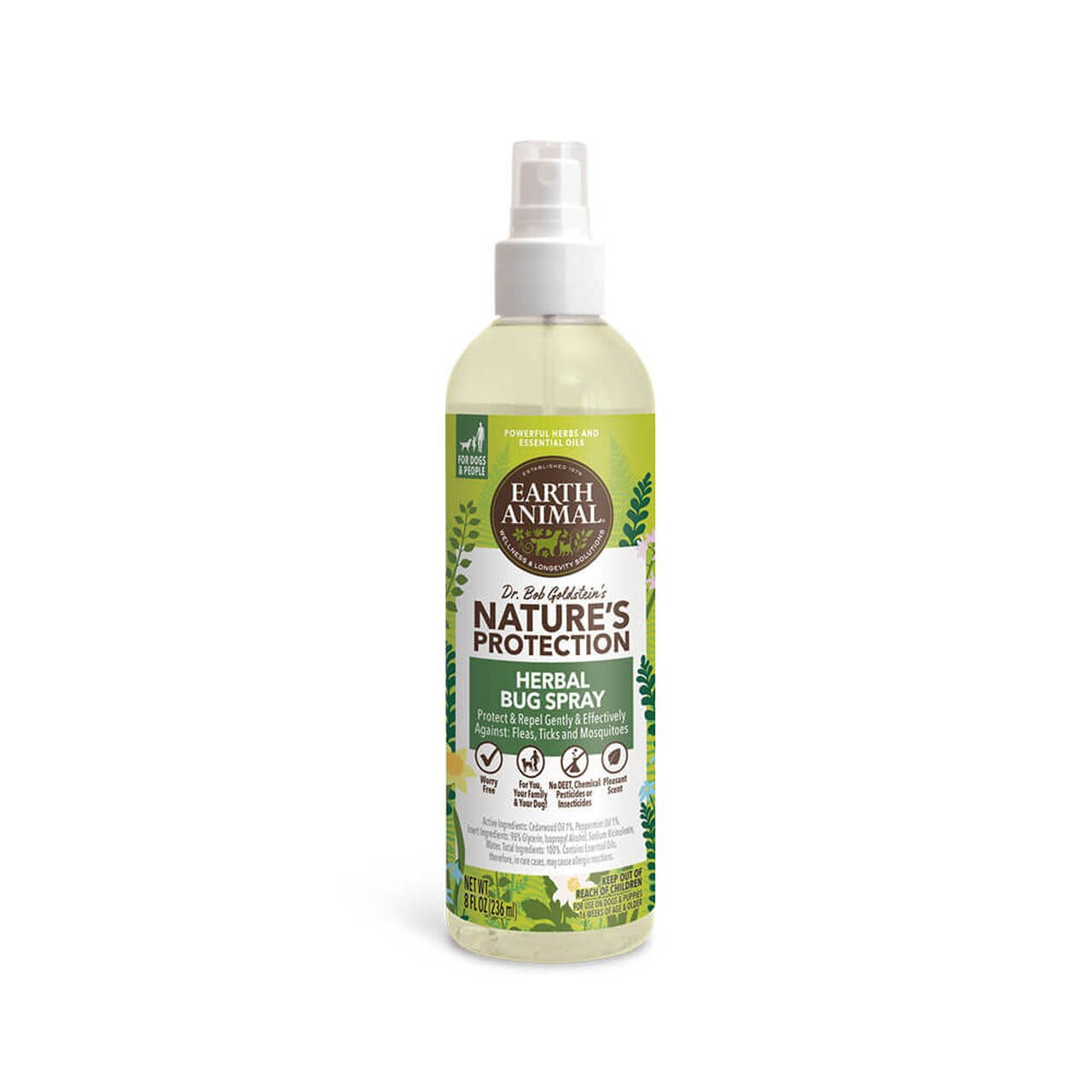Earth Animal Nature's Protection Herbal Bug Spray for Dogs, 8-oz