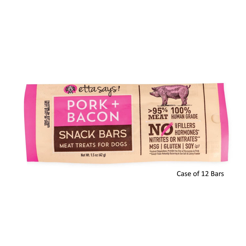 Etta Says! Pork + Bacon Snack Bars Dog Treats, 1.5-oz, 1-count