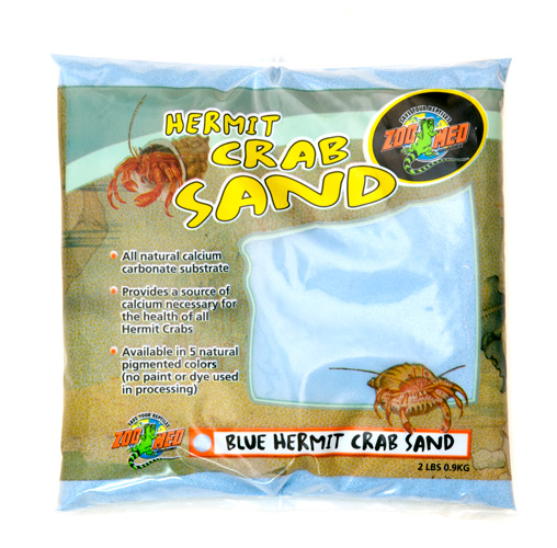 Zoo Med Hermit Crab Sand, Blue, 2-lb