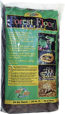 Zoo Med Forest Floor Natural Cypress Mulch Reptile Bedding, 24-qt bag