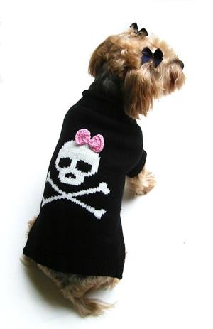 Dallas Dogs Sweater, Jolly Roger Skull Girl, 8-in