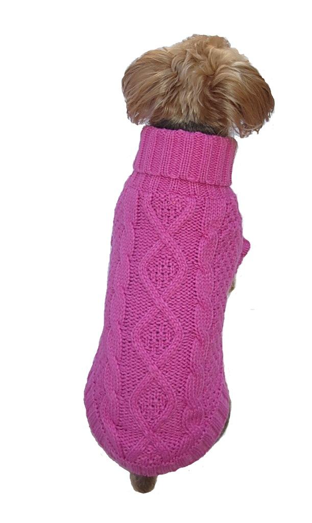 Dallas Dogs Sweater, Irish Knit Bubblegum Pink, 16-in