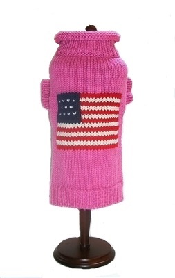 Dallas Dogs Sweater, Patriotic Pup Pink, 8-in