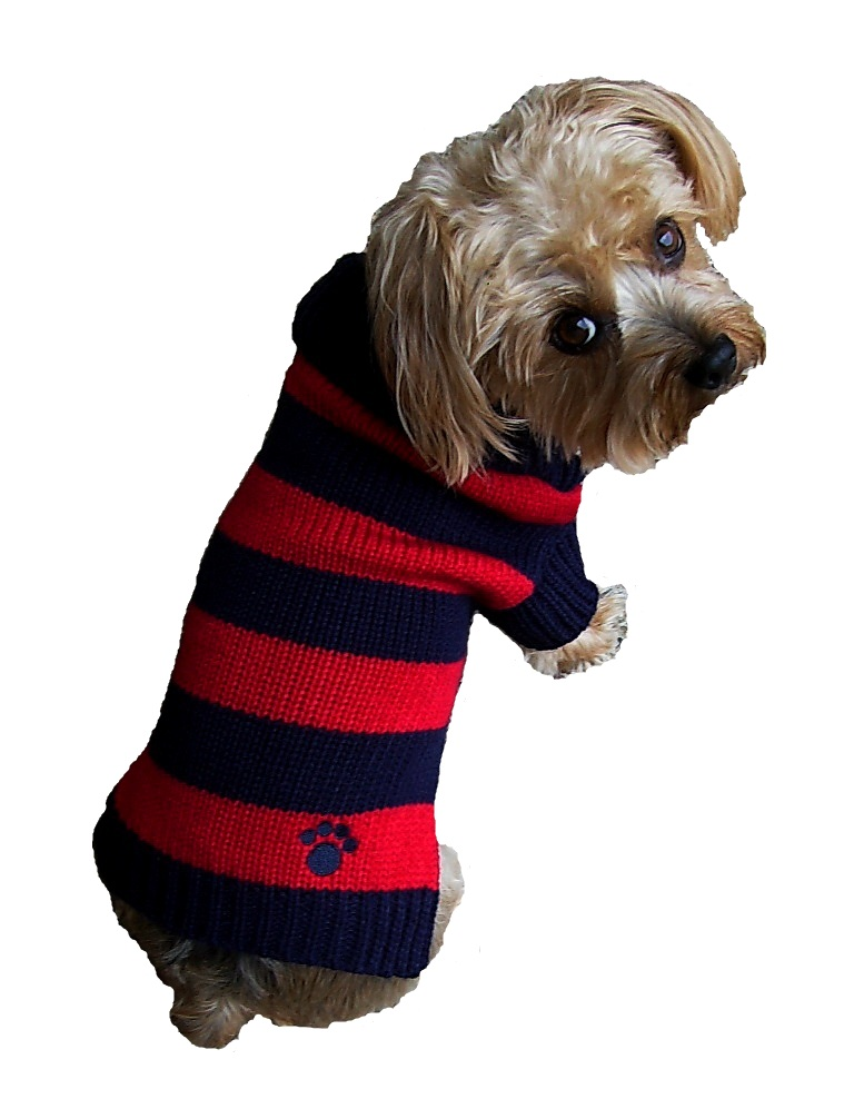 Dallas Dogs Sweater, Rugby Blue & Red, 16-in
