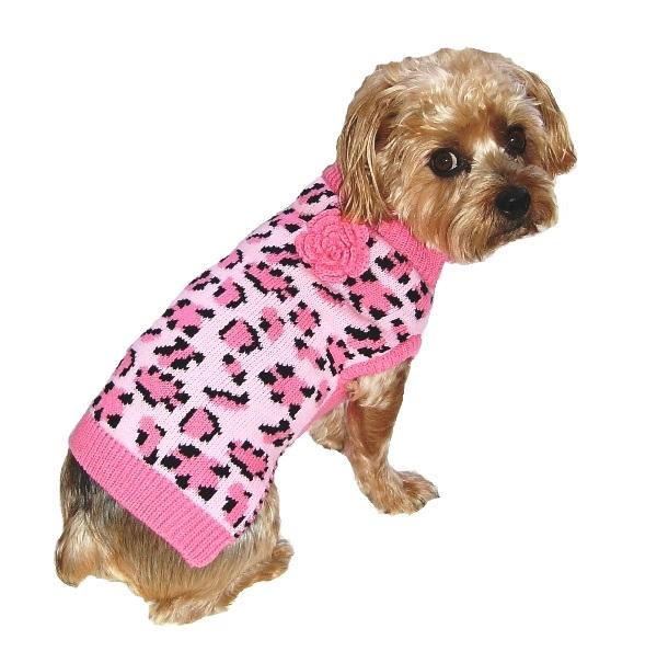 Dallas Dogs Sweater, Lovin' Leopard Pink, 16-in